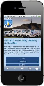 Example of a free mobile website